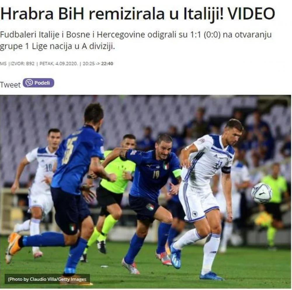 (Index).png - (FOTO) Regionalni mediji puni hvale na račun Zmajeva: BiH napravila seznaciju na startu Lige nacija