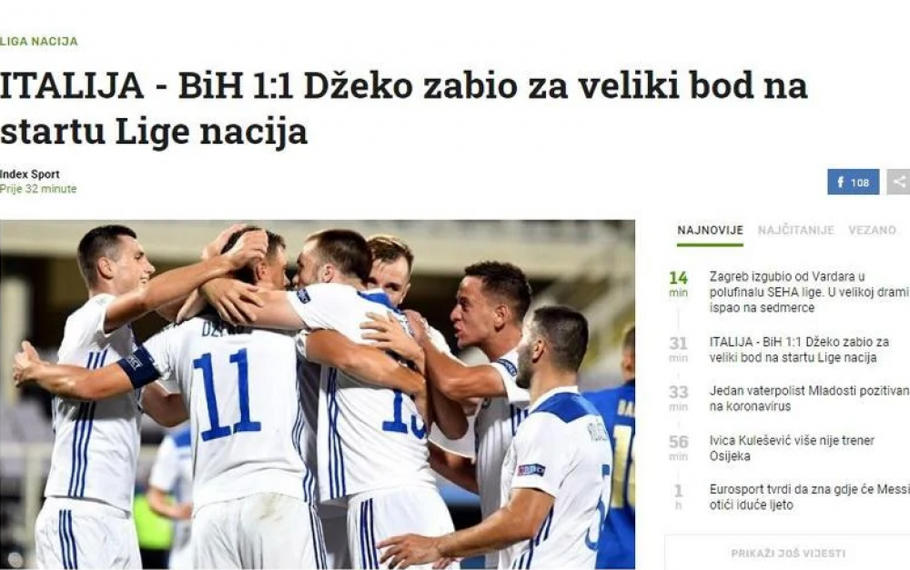 (index2).png - (FOTO) Regionalni mediji puni hvale na račun Zmajeva: BiH napravila seznaciju na startu Lige nacija