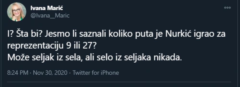 Screenshot_1.png - Politička analitičarka se obrušila na Nurkića na Twitteru, pa izazvala lavinu negativnih komentara