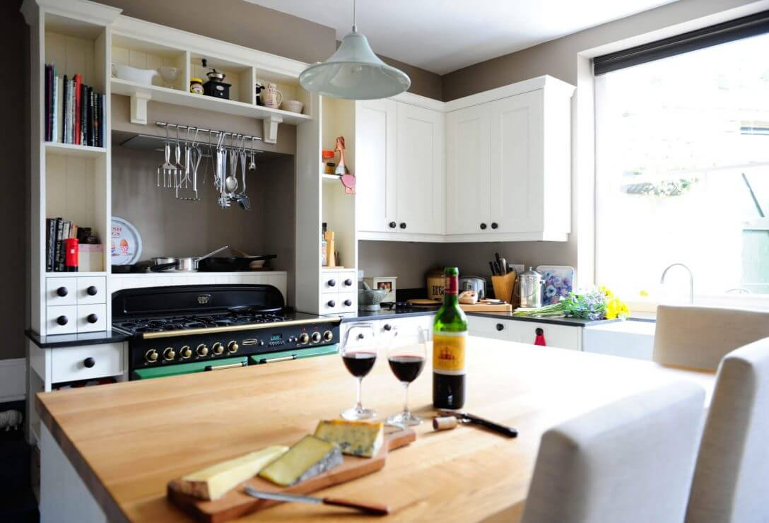 new shaker kitchen with feature kitchen island