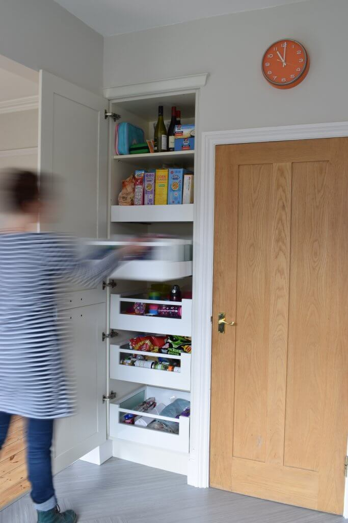 modern kitchen larder: Blum spacetower storage unit