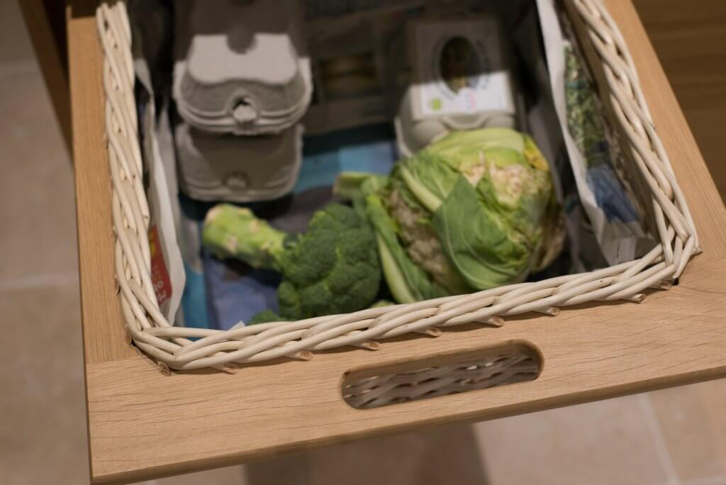 basket drawer for food storage