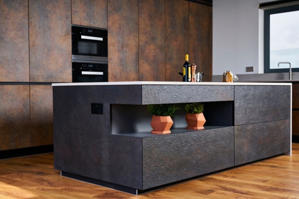 Dark Graphite Kitchen Island
