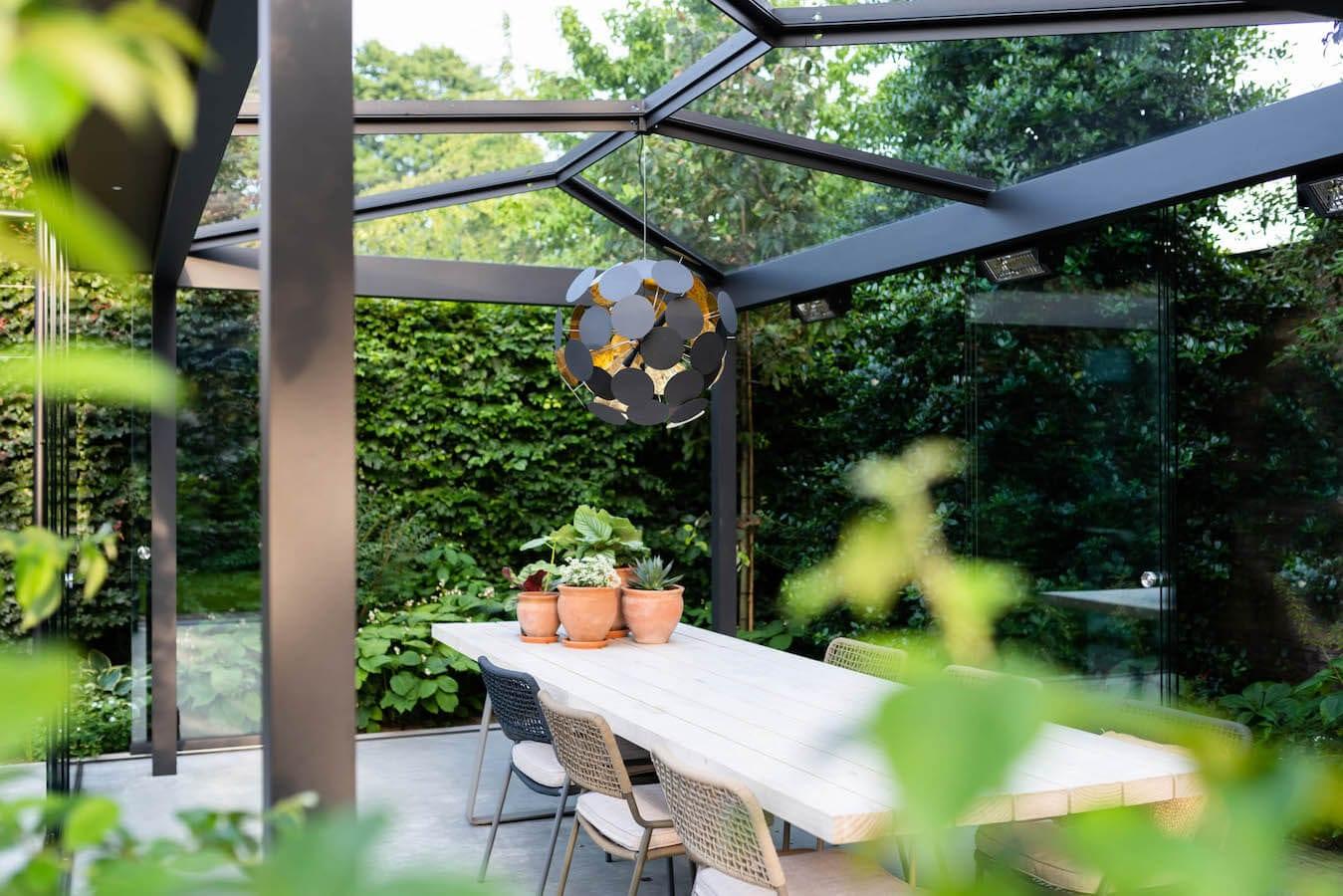 Vrijstaande overkapping tuinkamer Barneveld