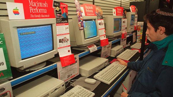 Продажи Macintosh, декабрь 1995 года