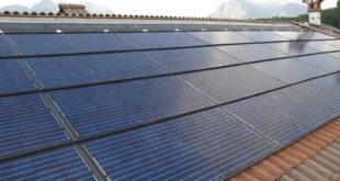 Impianto fotovoltaico posato sul tetto