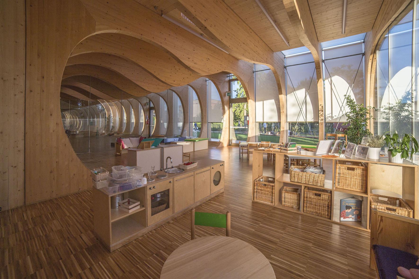 L 39 asilo di rubner holzbau innovazione sostenibile casa for Case di legno rubner
