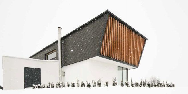 Casa in legno moderna e in armonia che sogno casa naturale for Una storia di case in legno
