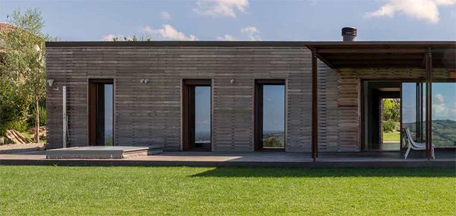 Una villa double face a piacenza progetto zanibelli ponti for Piccole case quadrate