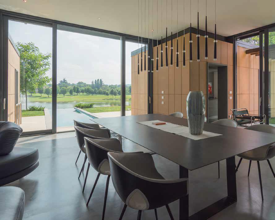 sala da pranzo | villa in Franciacorta
