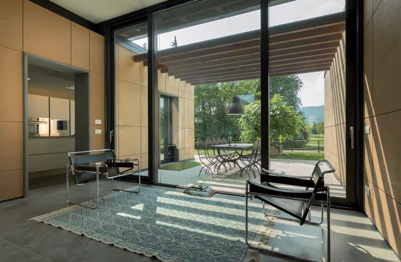 vetrate e open space | villa in Franciacorta