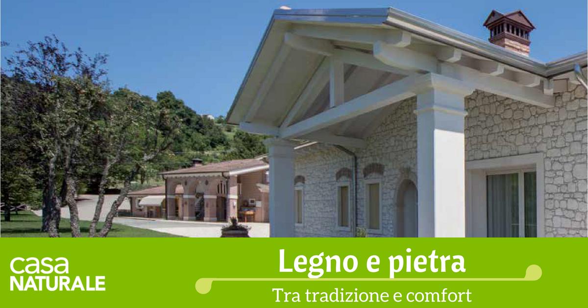 Casa prefabbricata in legno e pietra casa naturale for Costo della casa di fronte al mattone