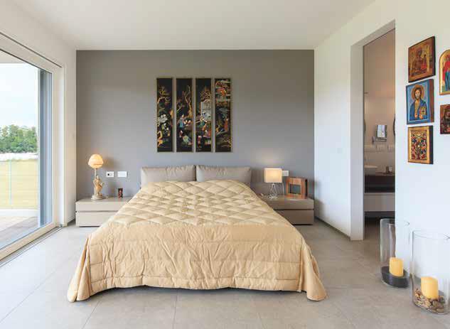 camera da letto villa prefabbricata Biohaus