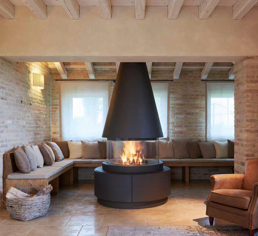 Il calore del legno scegliere il camino casa naturale for Camino centro stanza