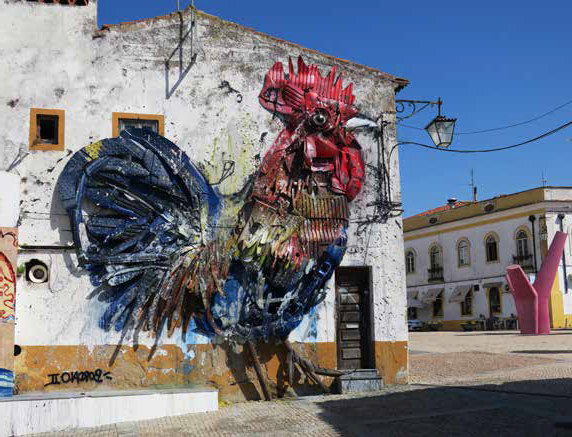 murales gallo | mostra Big Trash Animals