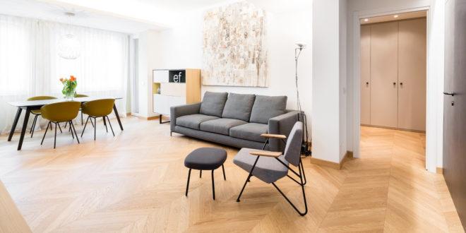 locali appartamento anni '60 rinnovato Milano