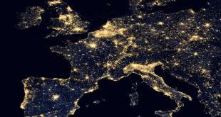 inquinamento luminoso in Europa