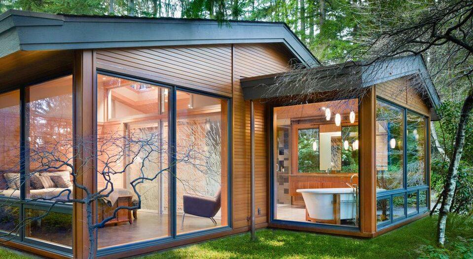 casa in legno Lake Forest Park   Integrazione tra legno antico e nuovo