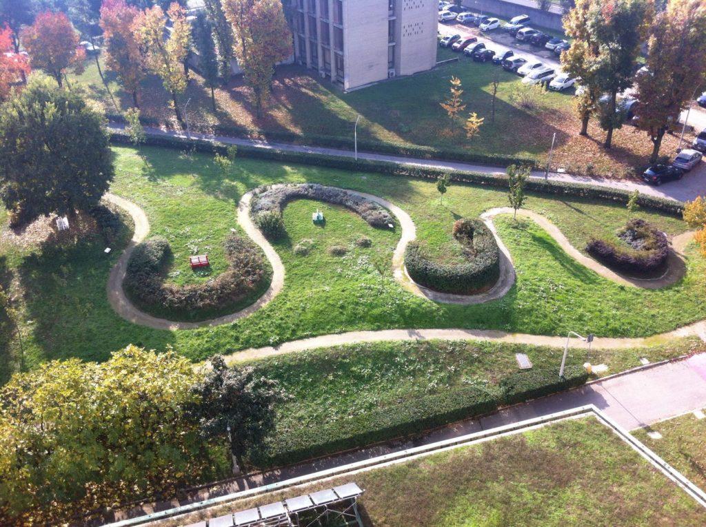 giardino che cura | vista dall'alto | uomo e natura