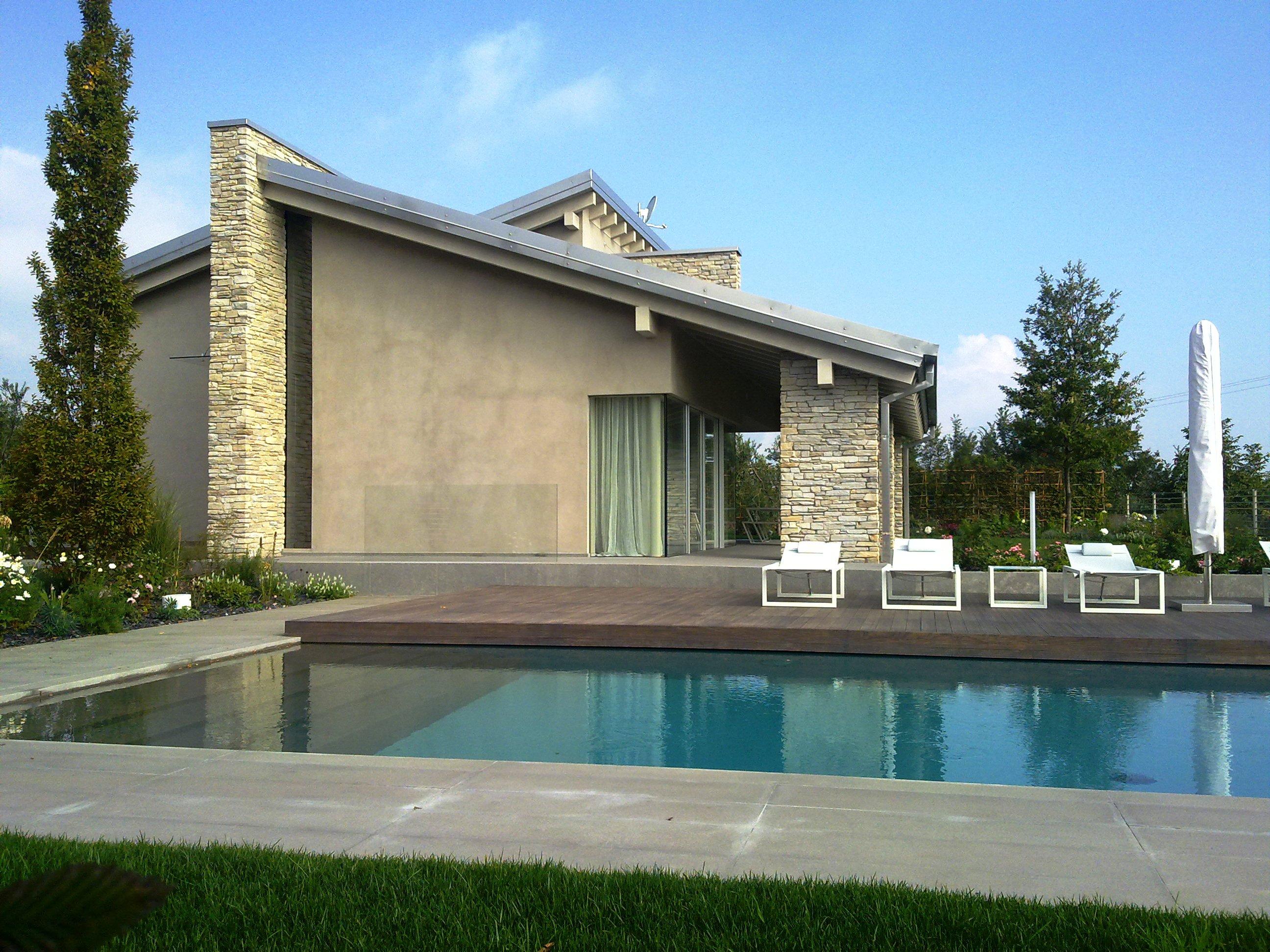 Casa passiva con piscina