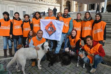 I cani del Parrelli in visita dal Papa