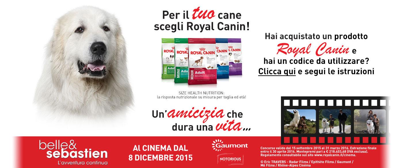 Arriva belle sebastien royal canin ti porta al cinema