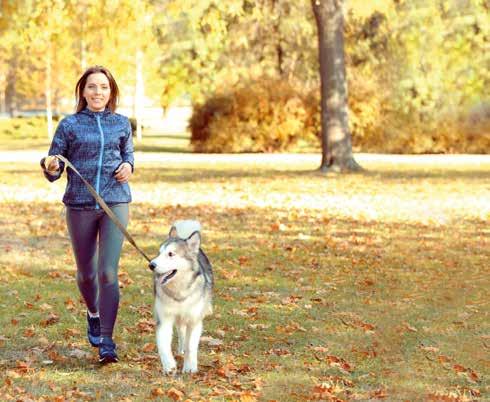 In forma con il cane