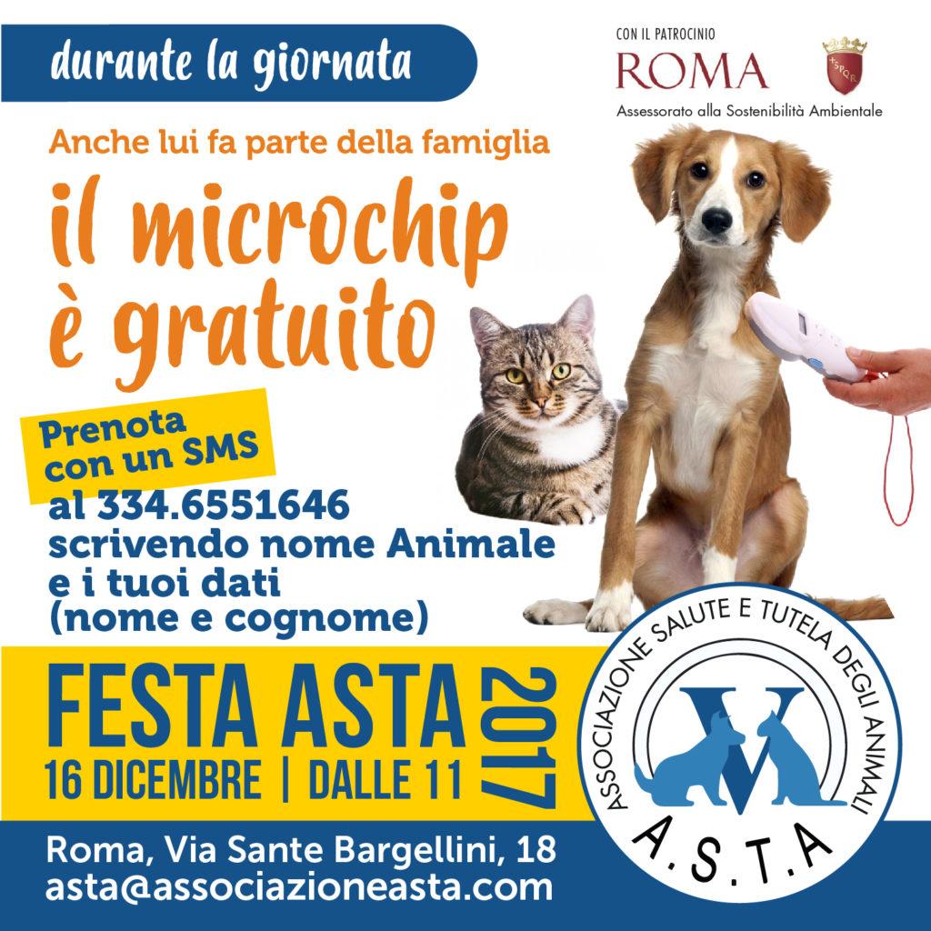 microchip gratuito roma 2017