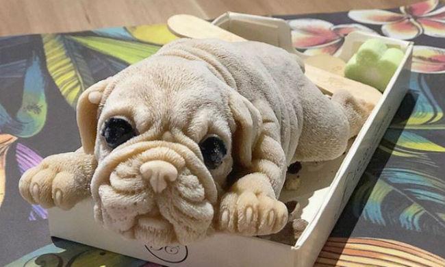 gelato a forma di cucciolo