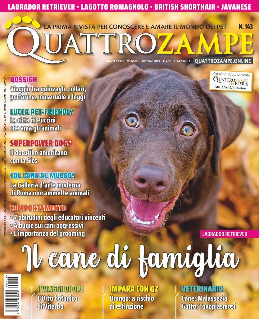Copertina Quattro Zampe ottobre 2019