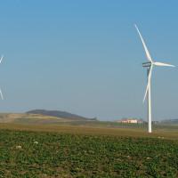 La piana di Calitri è provvista di pale eoliche per sfruttare l'energia del vento