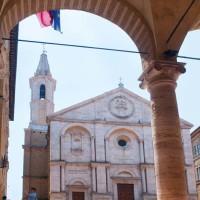 La celebre Piazza Pio II - Pienza