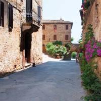 Uno scorcio di Pienza il cui centro storico è stato dichiarato dall'Unesco Patrimonio dell'Umanità nel 1996