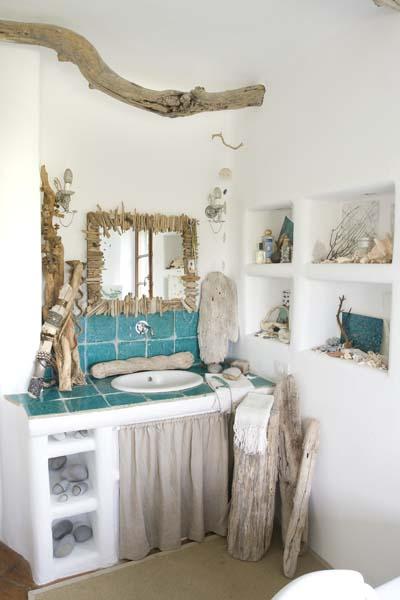 Armonia nella casa della piuma lunga ville casali - Decorazioni per il bagno ...