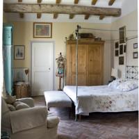 Una delle camere da letto di Cà Bianca dell'Abbadessa