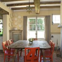 Tavolo da pranzo con legno di recupero