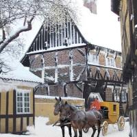Paesaggio danese nel periodo natalizio