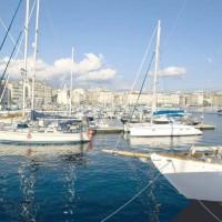 Un'immagine del porto di Marsiglia