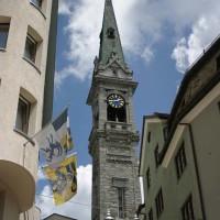 Il campanile della cattedrale di St Moritz - Luca Grandinetti/Shutterstock