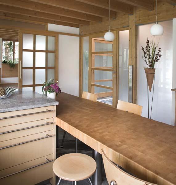 La cucina Bulthaup con il tavolo da pranzo