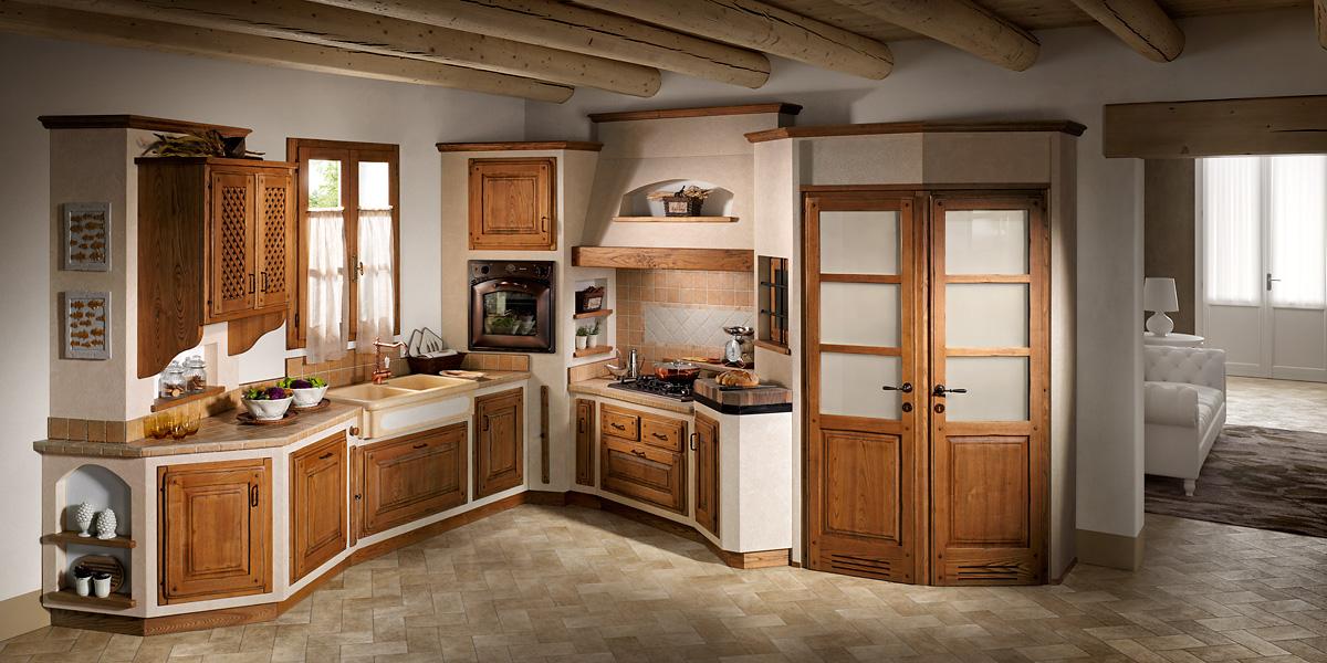 Trento bizzotto quotidiane emozioni ville casali - Cucine in finta muratura ...