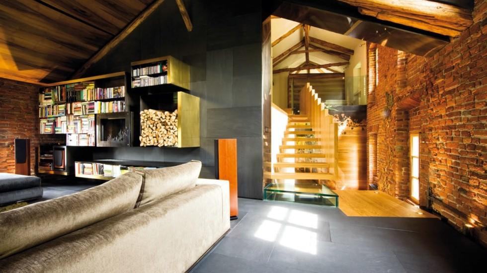 Arredamento moderno in una villa del Seicento