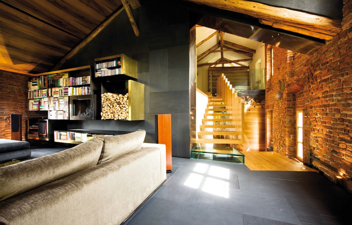 Blu creativo letto da camera for Interni ville moderne