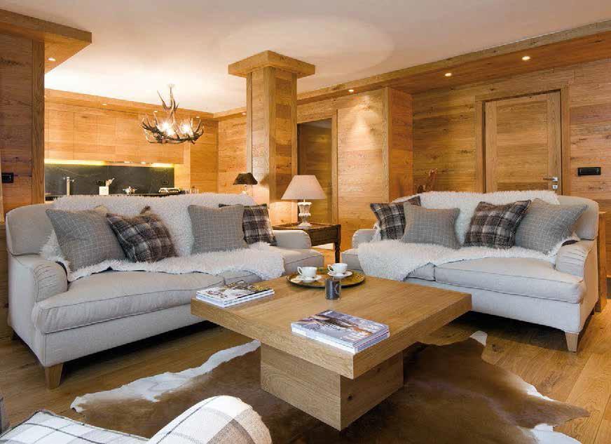 Arredare con il legno ville casali for Arredare il salone di casa