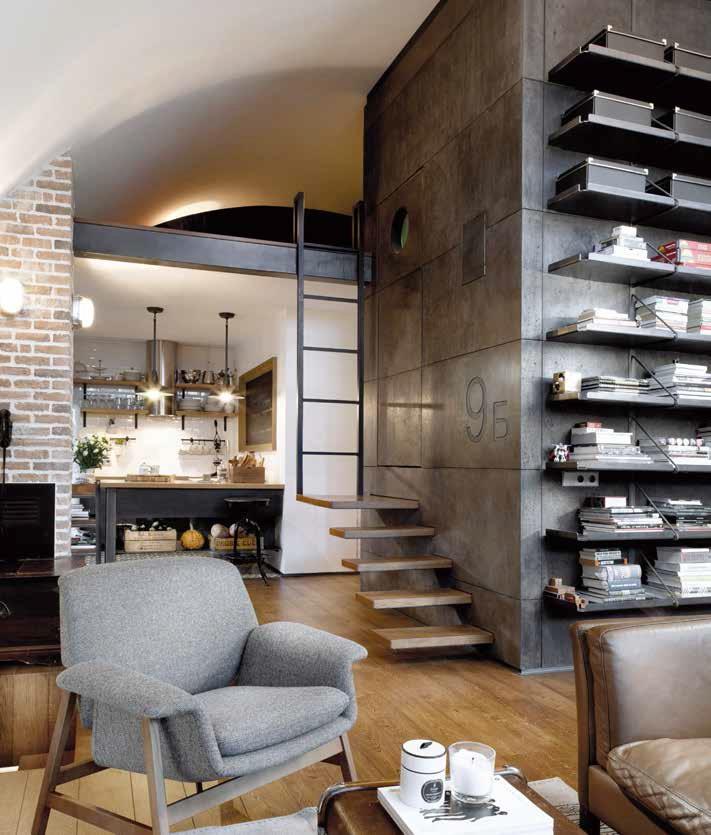 Salotto stile industriale idee per il design della casa - Mobili stile industriale usati ...