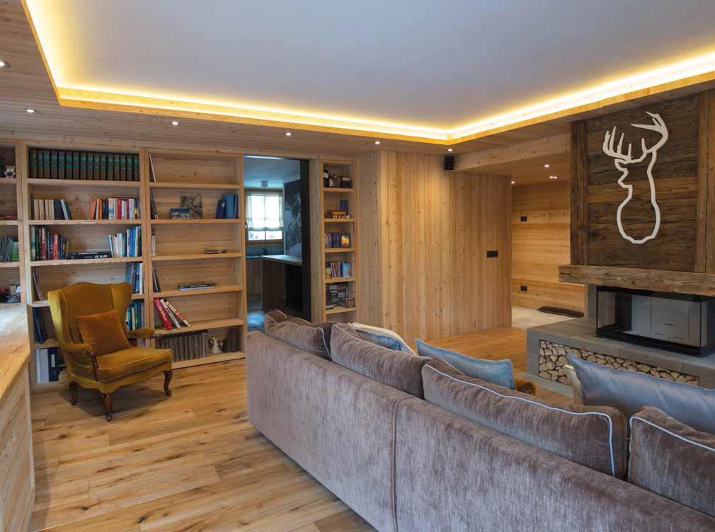 Legno e moderno per la casa di montagna for Case interne