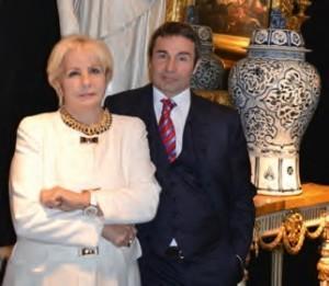 Francesca Carlucci e il figlio Marco