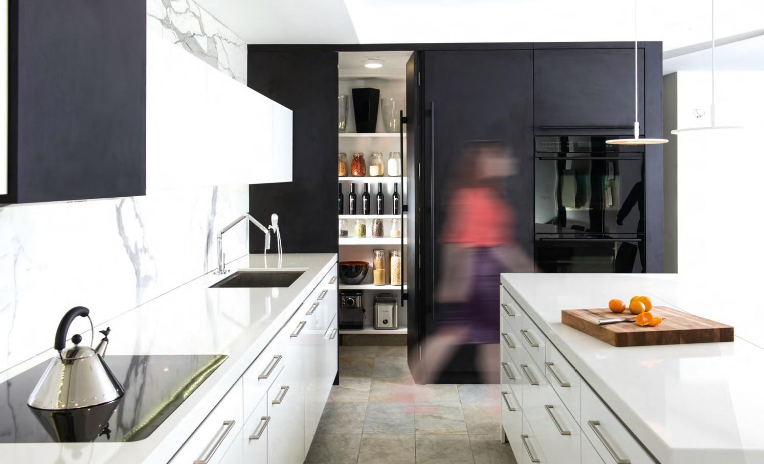 cucina moderna al centro della casa ville casali