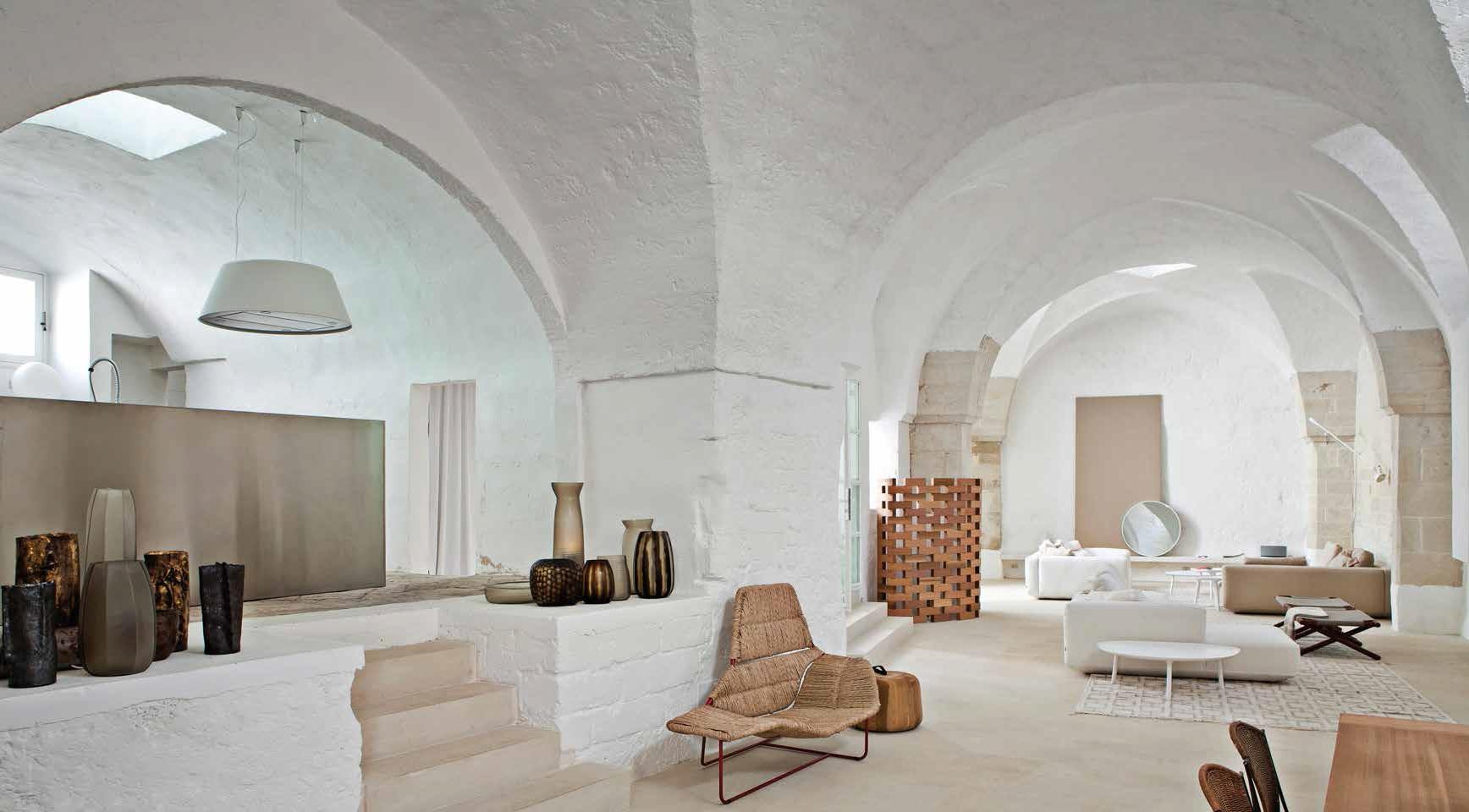 Casa in salento vivere in un frantoio ville casali for Piani di casa con soffitti a volta