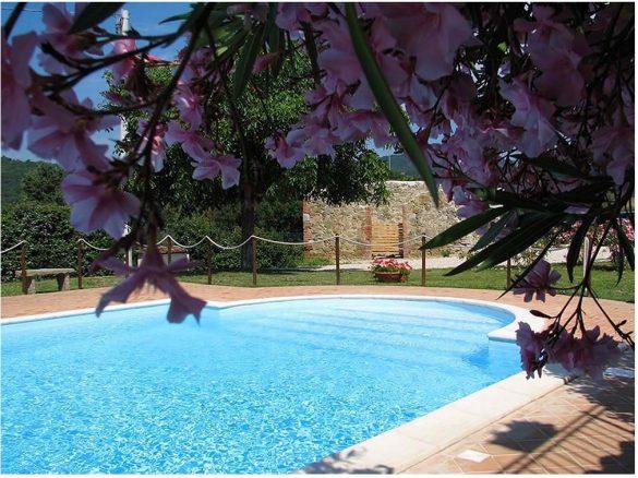 Relax e benessere nella piscina della villa